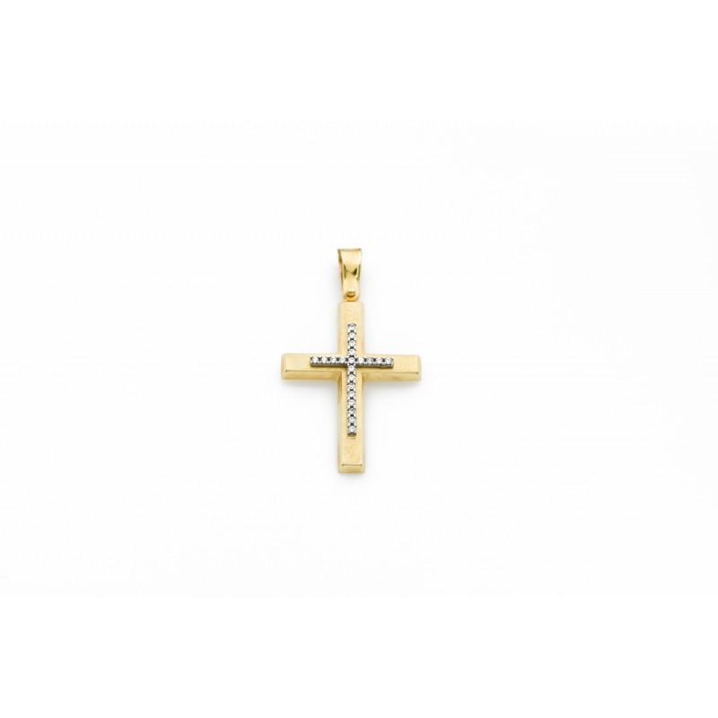 Σταυρός ματ με ζιργκόν 90011