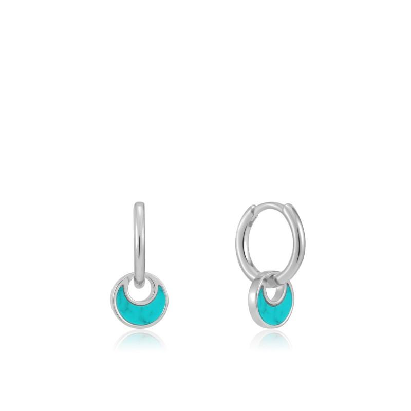 Silver earings E027-06H