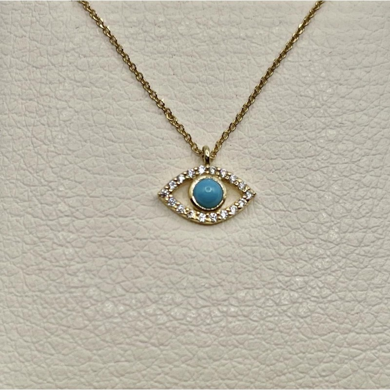 Gold Necklace k14 with eye 93060