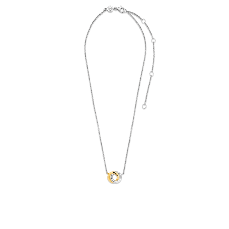 Ti Sento Silver- Goldplated necklace with circles 3915SY
