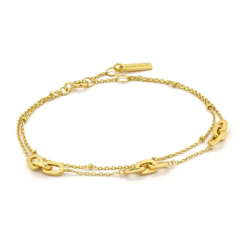 Silver bracelet B004-05G