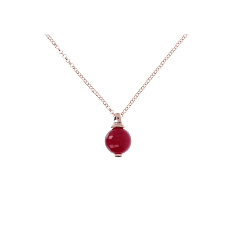 Bronzallure necklace with Plum Agate WSBZ00437.PA