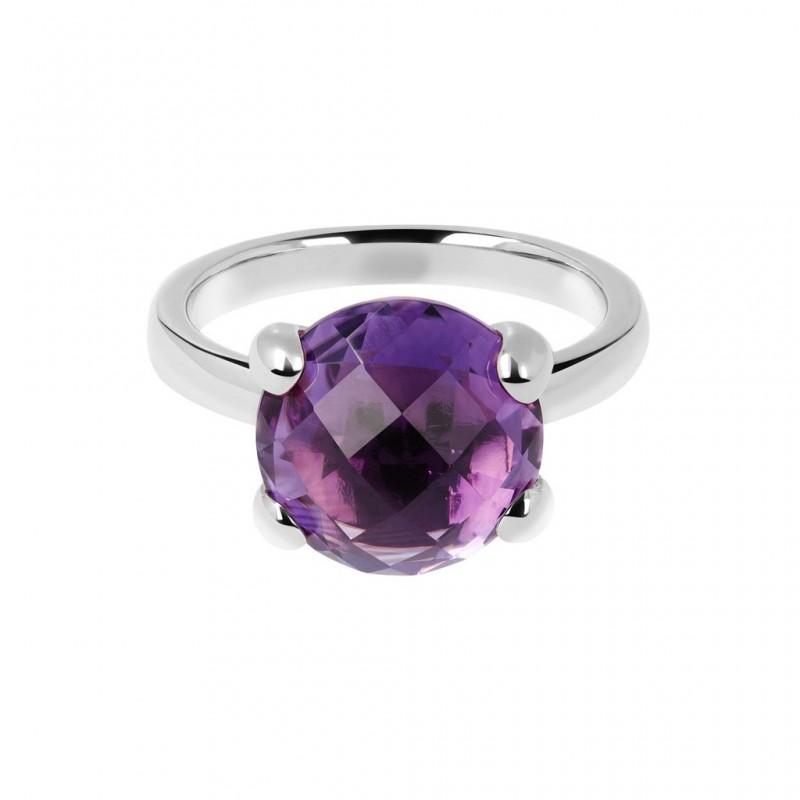 Bronzallure Ring With Amethyst WSBZ00013.AMW