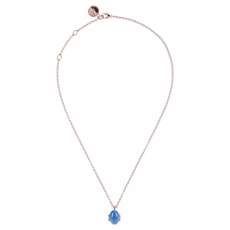 Bronzallure necklace with blue calzedony WSBZ00907.BC