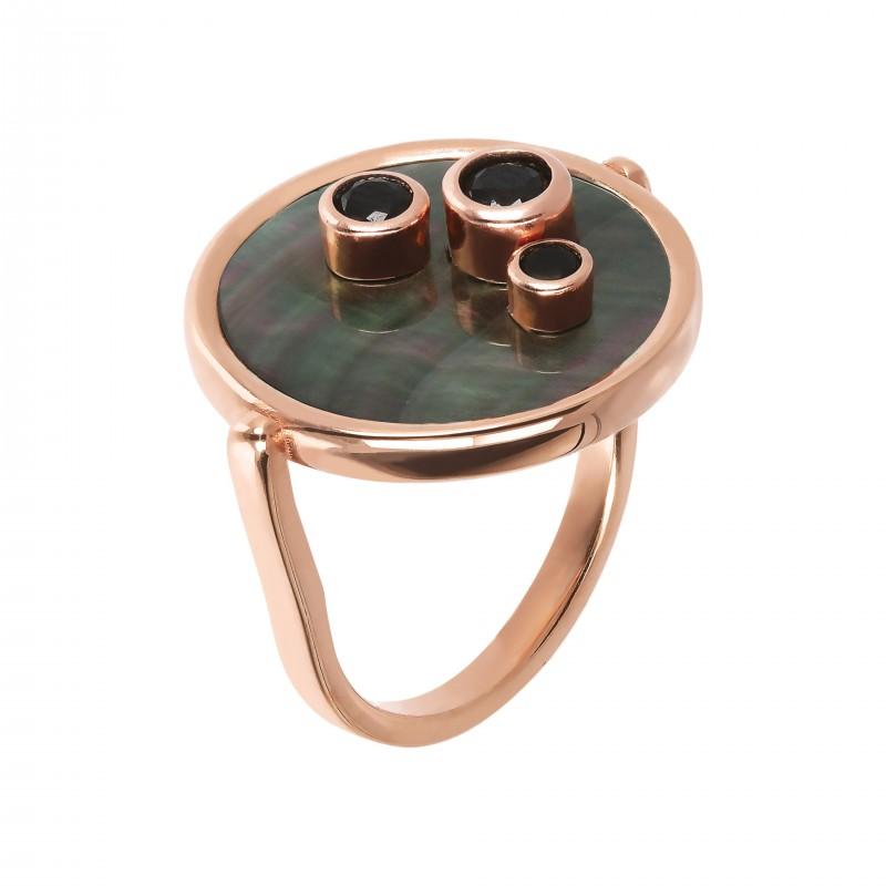 Bronzallure ring with Black MOP WSBZ01602.BM