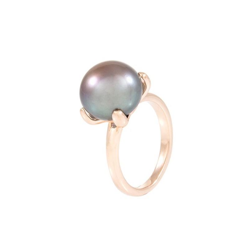 Bronzallure Ring with Black Pearl WSBM00008.B
