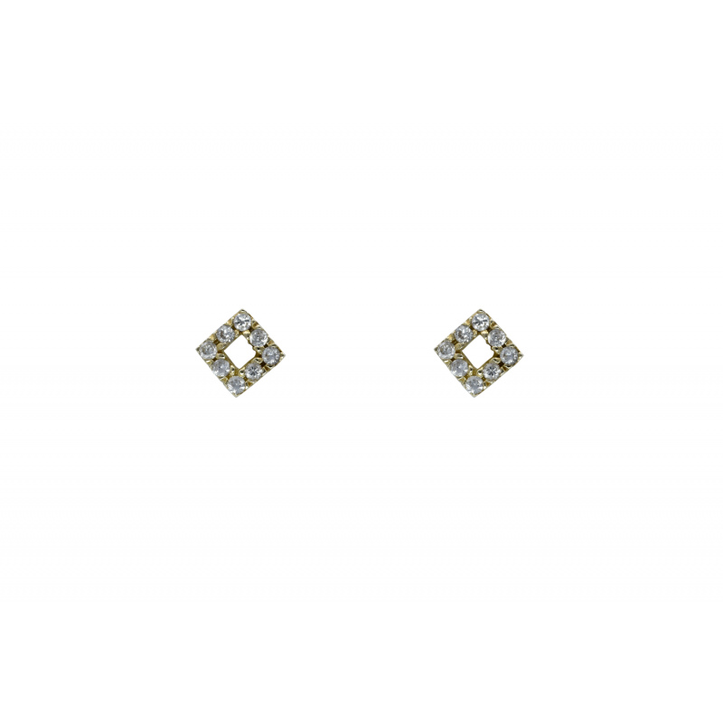 Gold k14 earings with CZ 29523