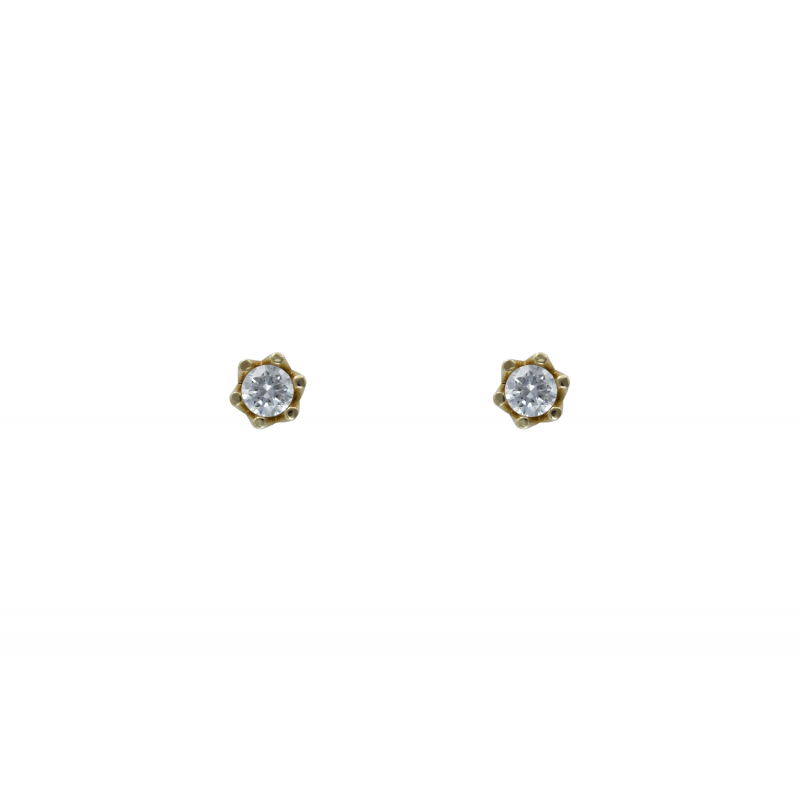 Gold k14 Stud Earings 75096