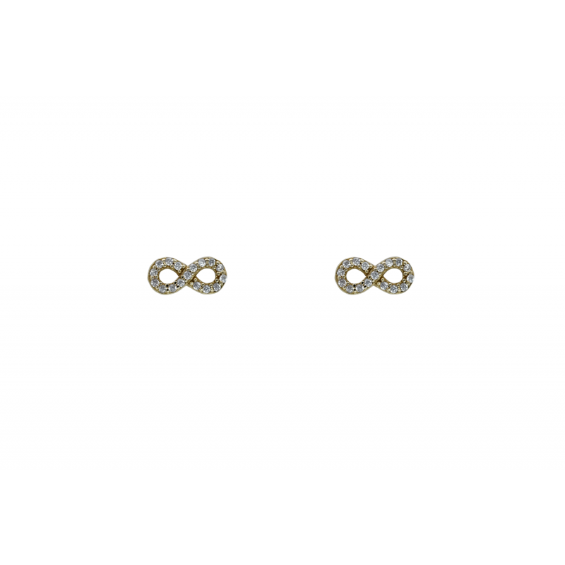 Gold k14 earings with CZ 88583
