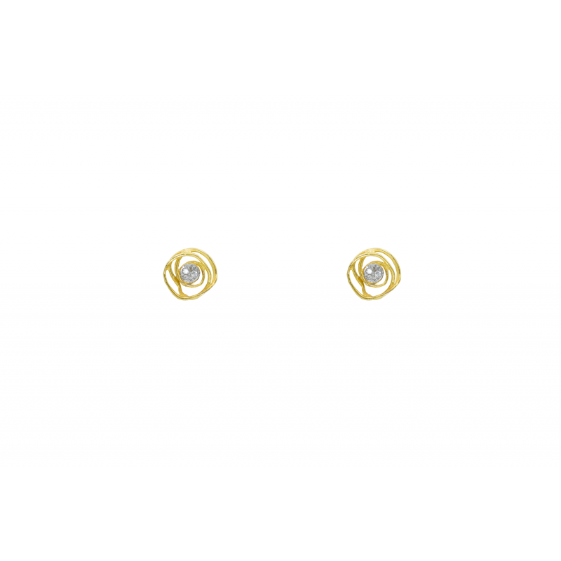 Gold Earings k14 with CZ 89229