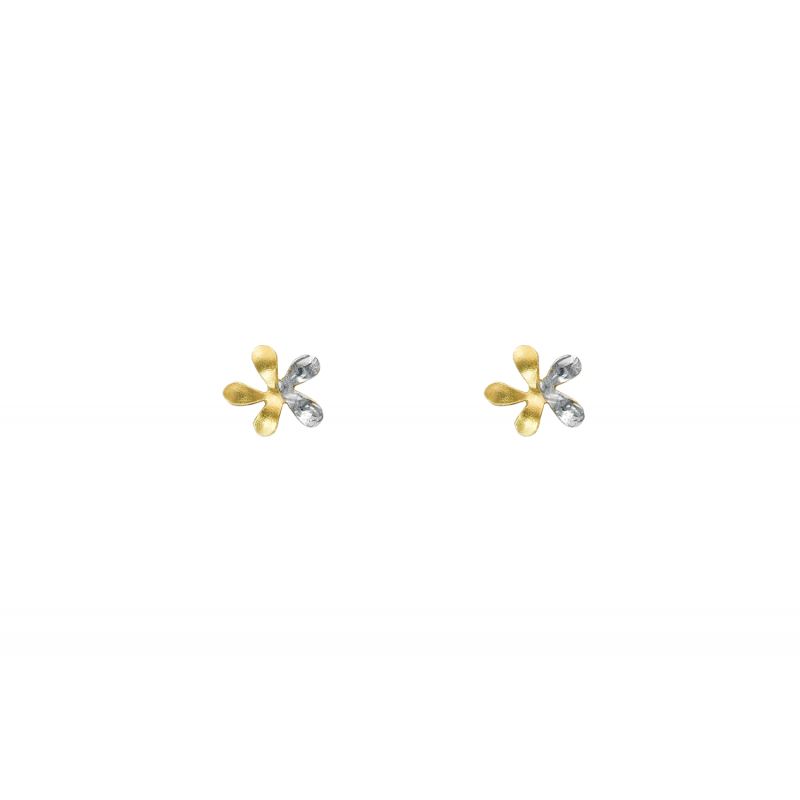 Gold and whitegold earings 89233