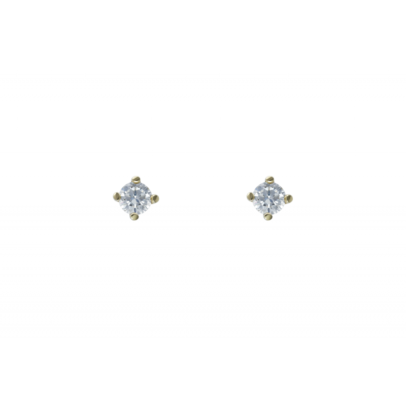Gold k14 earings with CZ 90875
