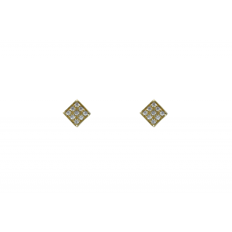 Gold k14 earings with CZ 90992