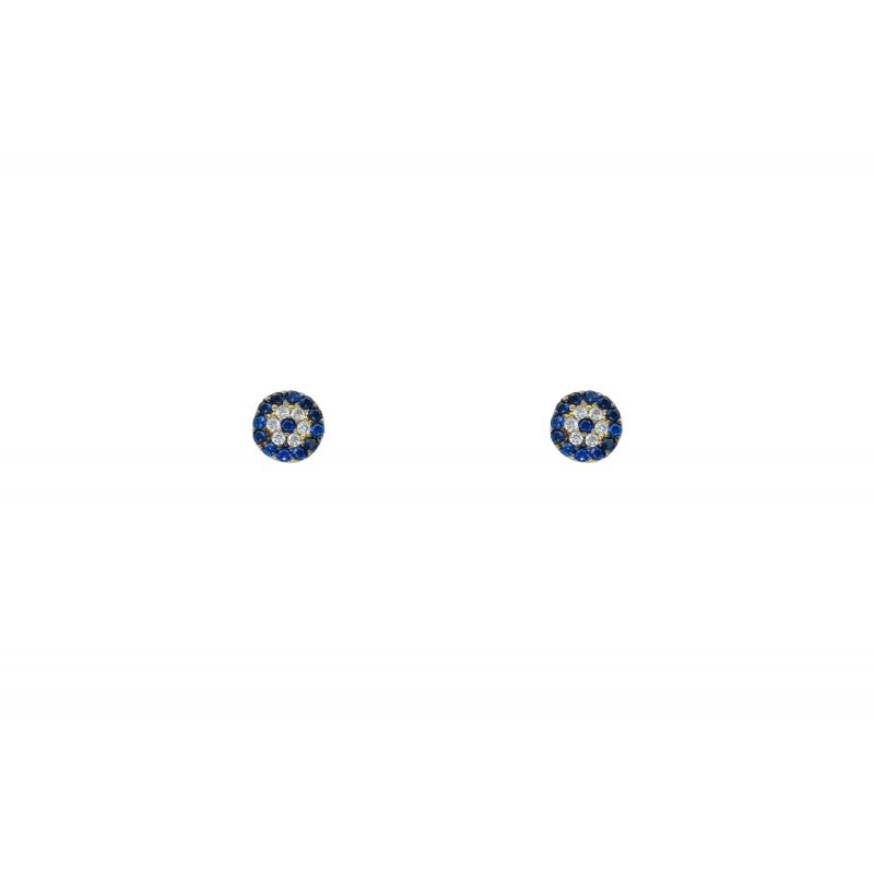 Gold k14 Eye Earings 93592