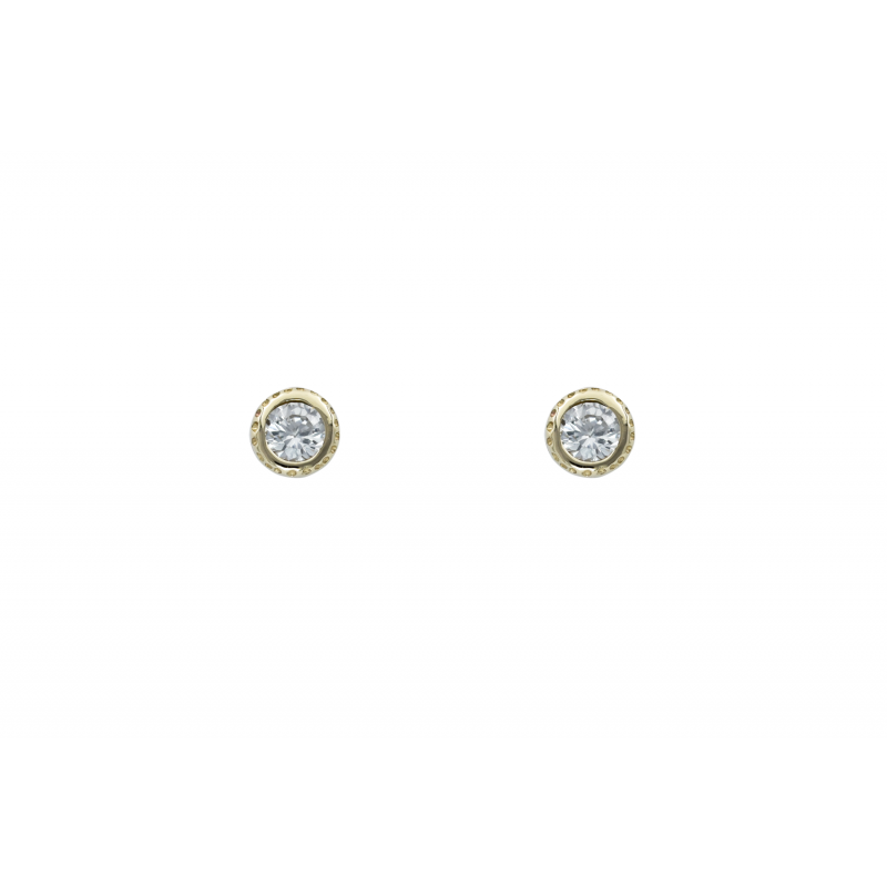 Gold k9 earings with CZ 94361