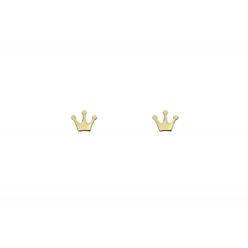Gold Earings crown 95661