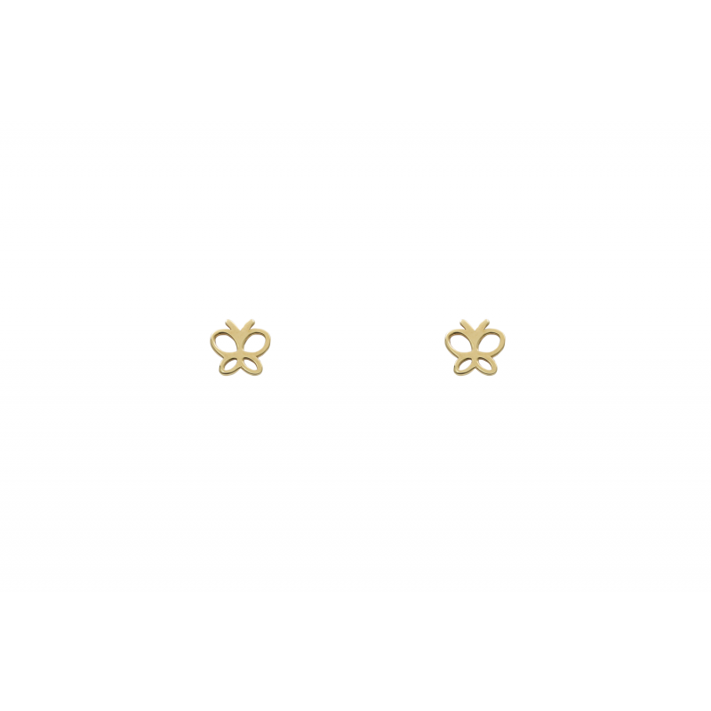 Gold Earings butterfly 95663