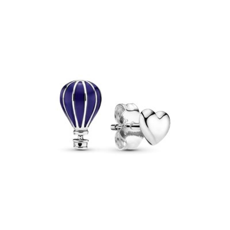 Pandora Hot air Balloon & heart earings 298058EN195