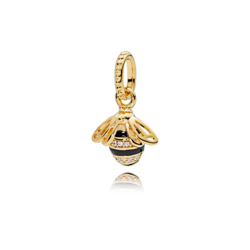 Hanging bee with enamel Pandora Shine 367075EN16
