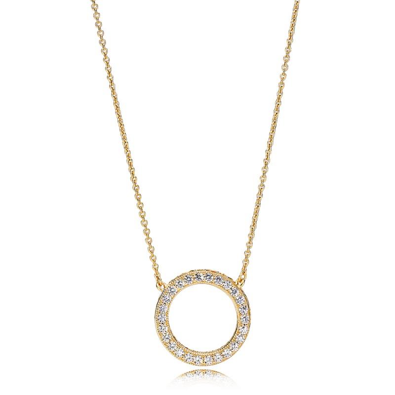 Pandora Hearts of Pandora goldplated Necklace 367121CZ