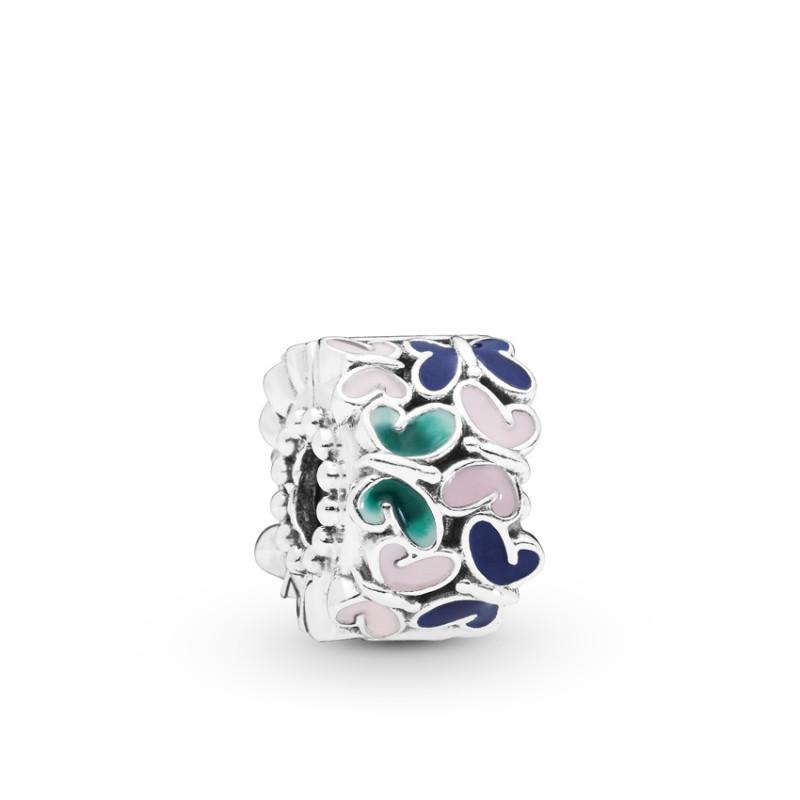 Clip with enamel buterflies 797863ENMX