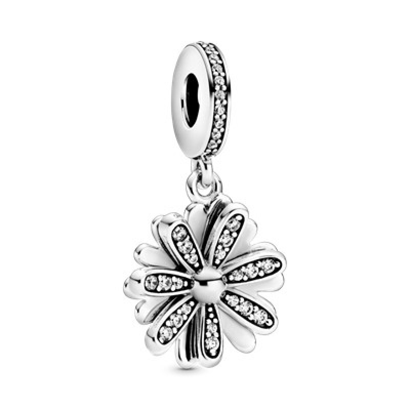 Hanging daisy charm with CZ 798813C01