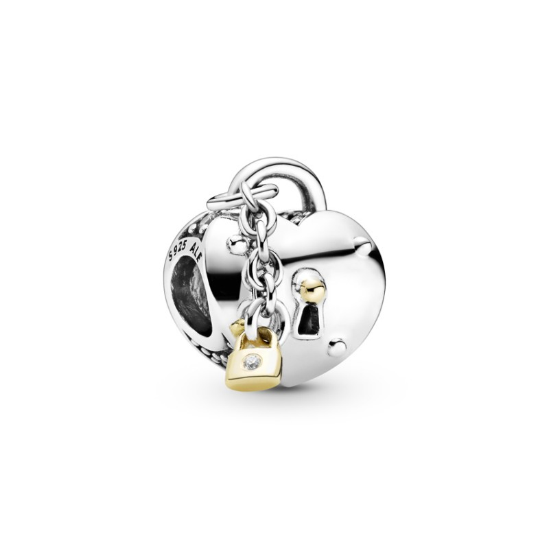 Locket charm silver and gold k14 799160C01