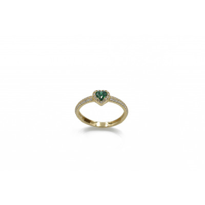 Δακτυλίδι πράσινη καρδιά 89061
